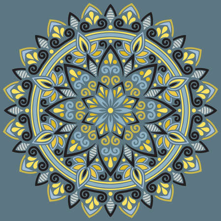 Mandala pattern color Stencil doodles sketch good mood Good for creative and greeting cards, posters, flyers, banners and covers Иллюстрация