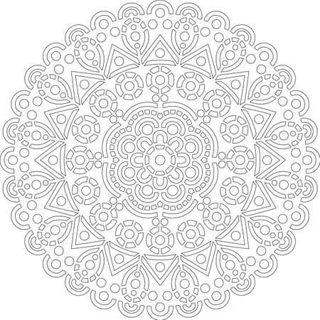 Figure mandala for coloring doodles sketch good mood Illusztráció