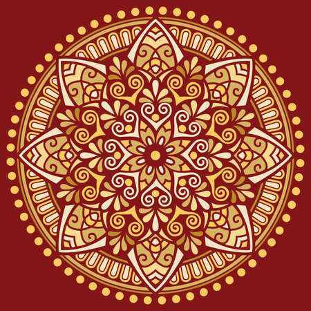 Mandala pattern color Stencil doodles sketch good mood Good for creative and greeting cards, posters, flyers, banners and covers 矢量图像