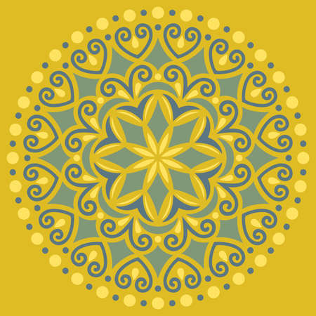 Mandala pattern color Stencil doodles sketch good mood Good for creative and greeting cards, posters, flyers, banners and covers Illustration