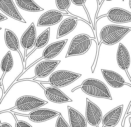 Abstract seamless pattern for coloring Doodle Sketch good mood For children and adults Relaxation Leisure Pleasure