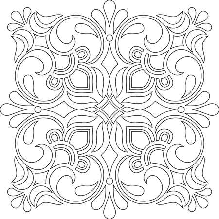 Cross for coloring. Suitable for decoration doodles sketch