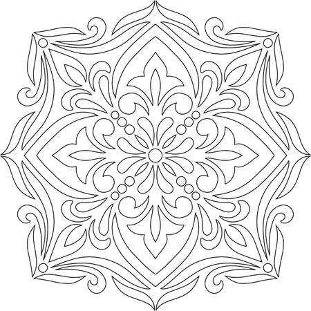 Cross for coloring. Suitable for decoration. Doodles Sketch
