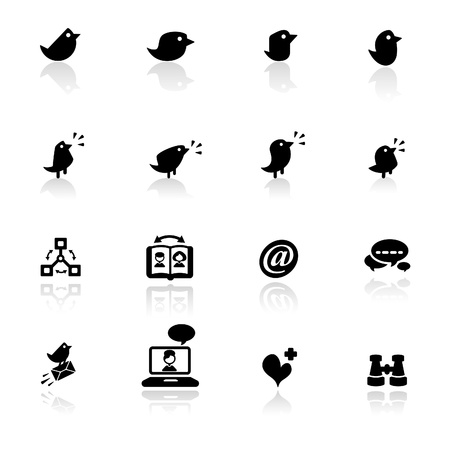social networks: Icon set  Social networks  Illustration