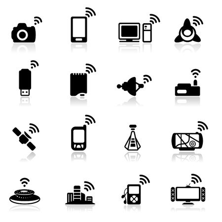 camera phone: Icon set  Connection