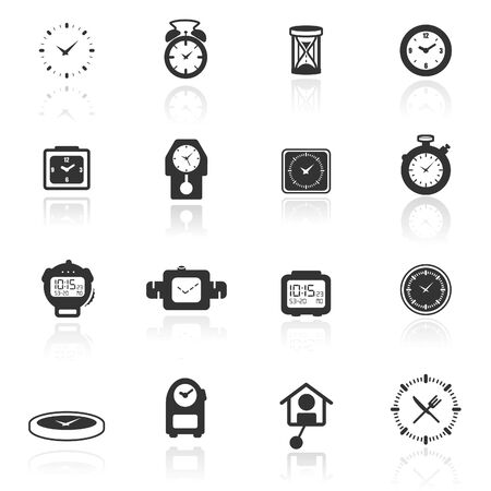 timer: Icon set  clocks