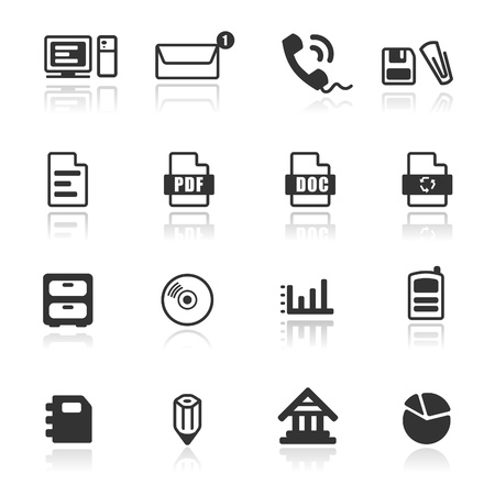 Icon set  Office/Web Stock Vector - 9650971