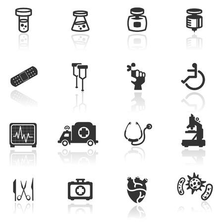 pharmacy icon: Icon set medizinische Illustration