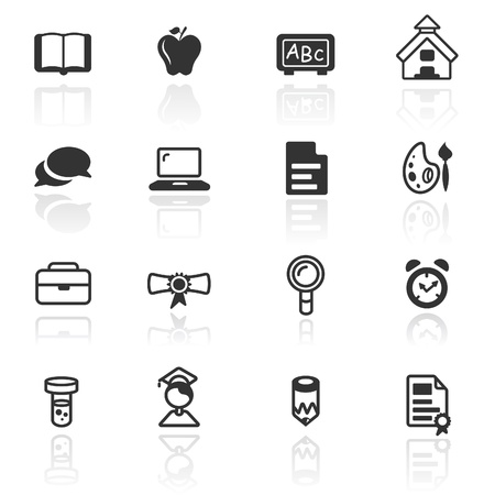 bubble icon: Icon set  education