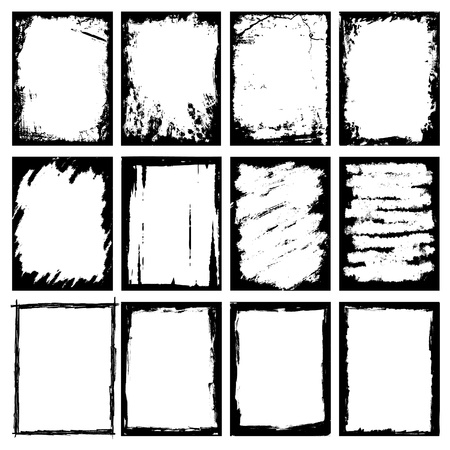 grunge photo frame: Cornici artistiche Vettoriali