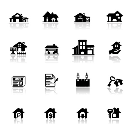 Icons set real estate  Stock Vector - 9650984