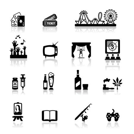 teatro: Conjunto de iconos de diversi�n y entretenimiento