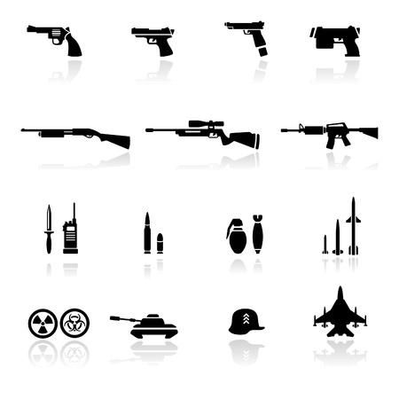misil: Armas de conjunto de iconos  Vectores