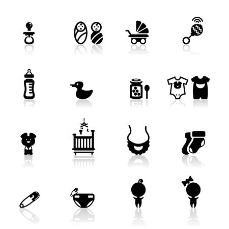 Icons set Babies Stock Vector - 9811369