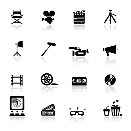 Icons set pirates Vector