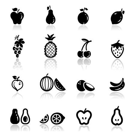 pi�as: Icons set frutos Vectores