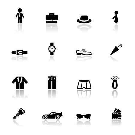 Icons set Hombre Accesorios