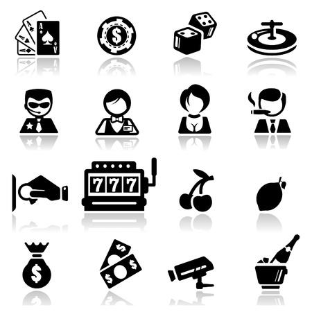 Icons set Casino Stock Vector - 10777338