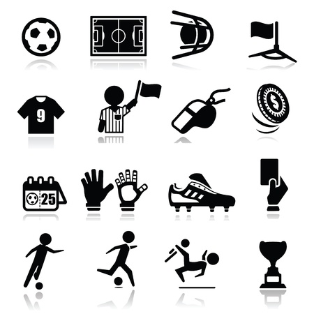 soccer shoes: Icons set Soccer