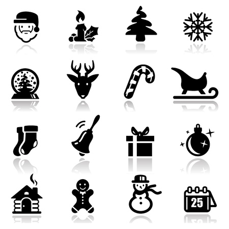 Icons set Christmas Stock Vector - 11185522