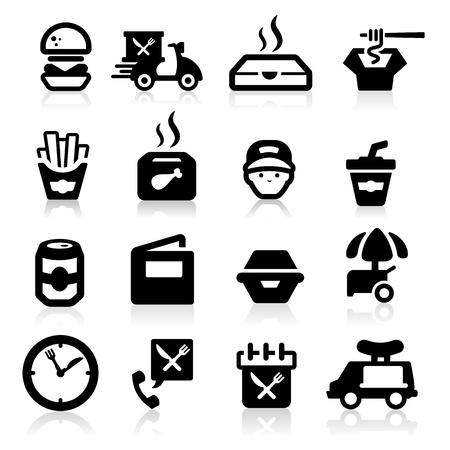 vespa piaggio: Fast food icone set - serie Elegante