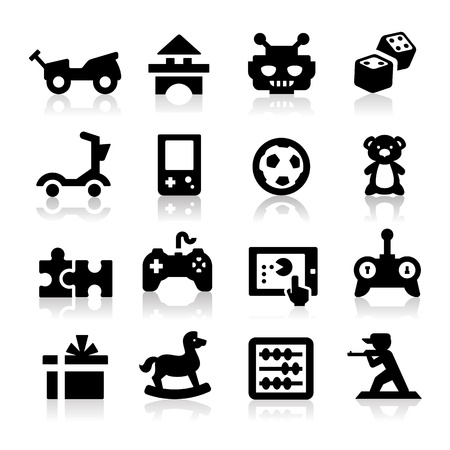 bear silhouette: Toy icons  Illustration