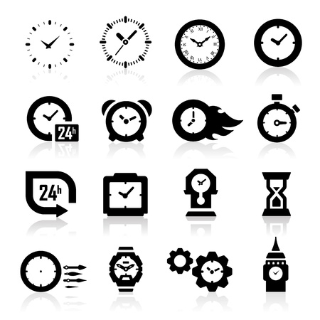 Clock icons  Stock Vector - 14676405