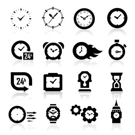 Iconos del reloj Ilustración de vector