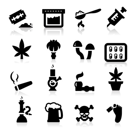 Drugs icons Vector