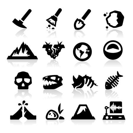 fossil: Geology icon Illustration