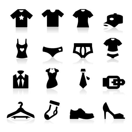 ropa deportiva: Icono de tela Vectores