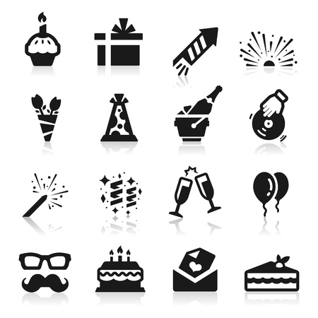 Birthday icons Stock Vector - 14676399