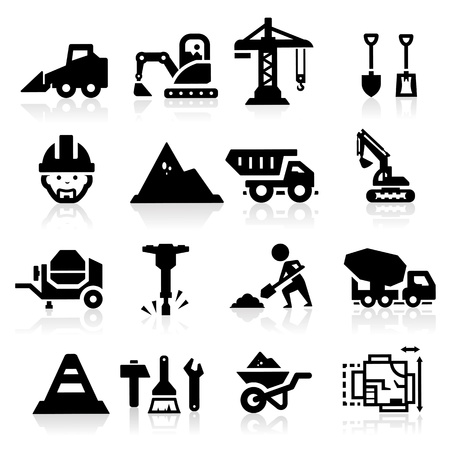 bobcat: Iconos de la construcci�n Vectores
