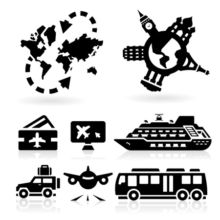 reservations: Travel Icons  Illustration