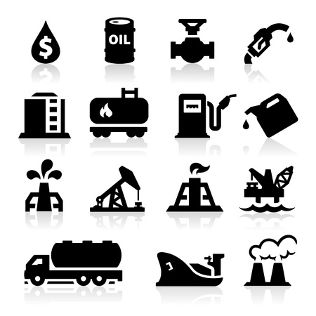 oil barrel: Iconos del petr�leo Vectores
