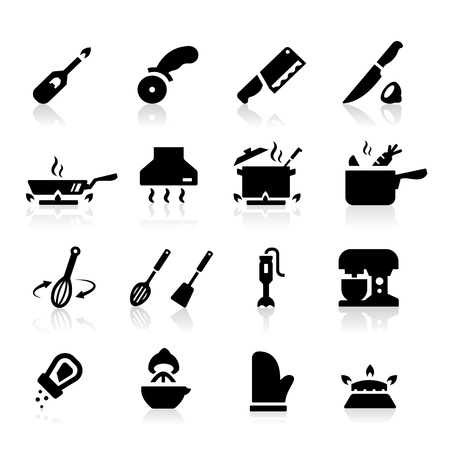 stoves: Kitchen utensils icons