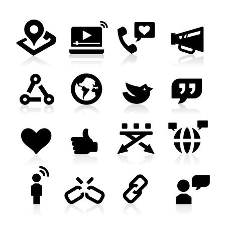 cadena rota: Iconos del Web