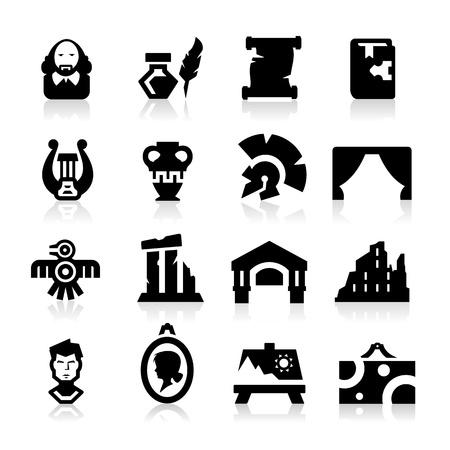 vasi greci: Storia e cultura delle icone Vettoriali