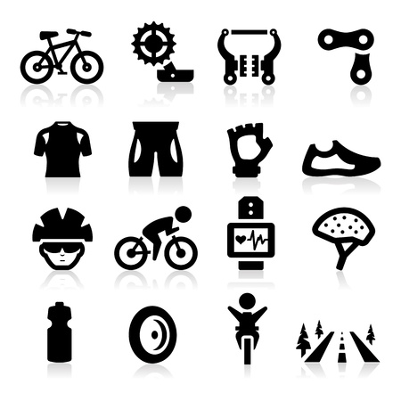 pastime: Biking icon Illustration