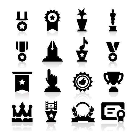 Medals icons Vector