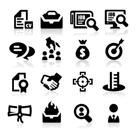 job search: Employment icons Illustration