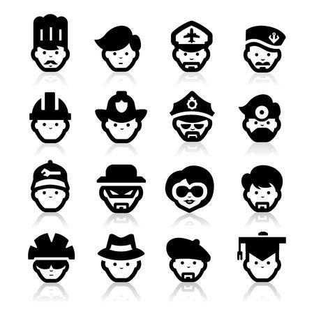 ladron: La gente del icono Vectores