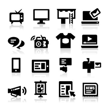 hablando: Iconos Publicidad Vectores