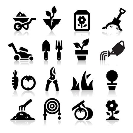 Jardinería icono Ilustración de vector