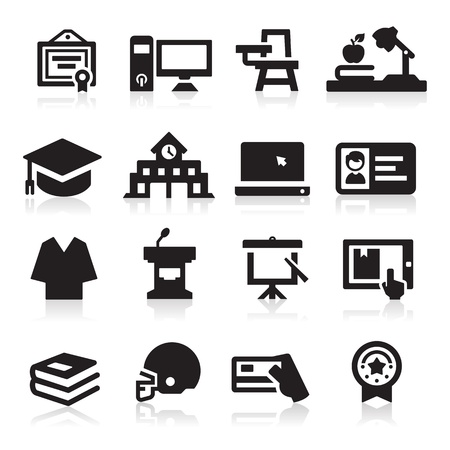 school icons: College icon Illustration