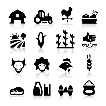 bauernhof: Farm-Symbol Illustration