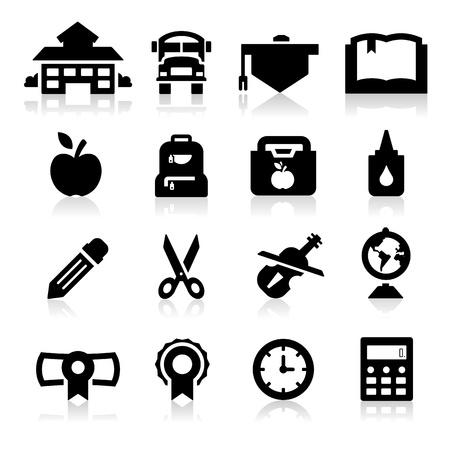 zaino scuola: Scuola di icone Vettoriali