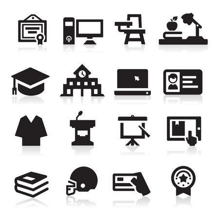 iconos: Colegio icono Vectores