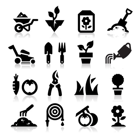 watering: Tuinieren pictogram Stock Illustratie
