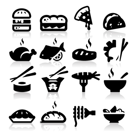 soup and salad: Food  type Icons Illustration